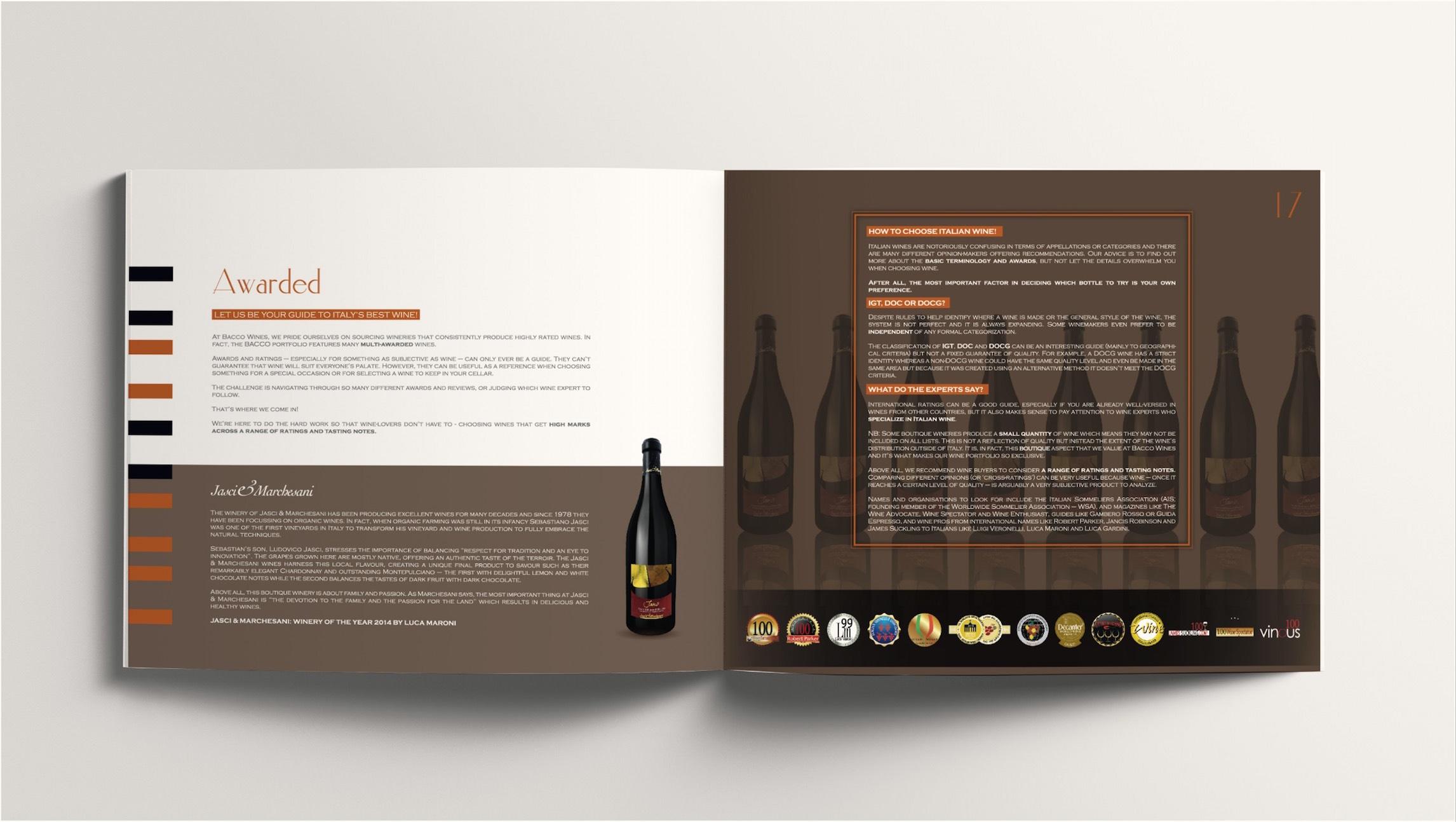 94617adf4998 ClientBACCO Boutique Italian WinesIndustryFood &  BeverageDate2014-2017Project ServiceBranding, Design